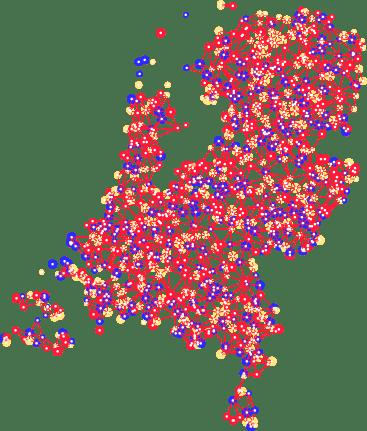Potentiele warmtekaart Nederland